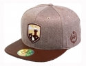 더블에이에이 피티드(DOUBLE AA FITTED) Shiny Oatmeal heather Lighthouse Logo cap