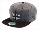 더블에이에이 피티드(DOUBLE AA FITTED) Shiny Charcoal heather England Logo cap