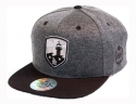 더블에이에이 피티드(DOUBLE AA FITTED) Shiny Charcoal heather Lighthouse Logo cap