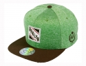 더블에이에이 피티드(DOUBLE AA FITTED) Shiny Green heather BRKLYN patch cap