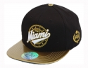 더블에이에이 피티드(DOUBLE AA FITTED) Shiny Gold MIAMI Logo cap