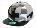 더블에이에이 피티드(DOUBLE AA FITTED) Grey Camo DA Faux Leather patch cap