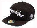 더블에이에이 피티드(DOUBLE AA FITTED) Black Modern BROOKLYN logo cap