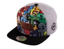 더블에이에이 피티드(DOUBLE AA FITTED) Grey Graffiti DA Faux Leather patch cap