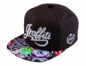 더블에이에이 피티드(DOUBLE AA FITTED) Grey Print Visor Graffiti logo cap