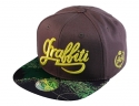 더블에이에이 피티드(DOUBLE AA FITTED) Green Print Visor Graffiti logo cap