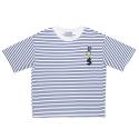 오디나이보이 [디나이보이] 베이비 메달 티셔츠 (블루 스트라이프)
