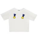 오디나이보이 [오디나이보이] 투 메달 티셔츠 (화이트)