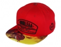 더블에이에이 피티드(DOUBLE AA FITTED) Red Print Visor DA logo cap