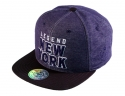 더블에이에이 피티드(DOUBLE AA FITTED) Denim like NY logo cap