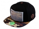 더블에이에이 피티드(DOUBLE AA FITTED) Black Camo Bill  DA logo cap