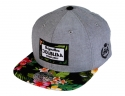 더블에이에이 피티드(DOUBLE AA FITTED) Black Flower Print Bill DA label cap
