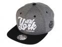 더블에이에이 피티드(DOUBLE AA FITTED) Heather Grey NYL  logo cap