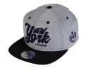 더블에이에이 피티드(DOUBLE AA FITTED) Grey NYL  logo cap