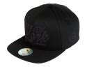 더블에이에이 피티드(DOUBLE AA FITTED) Black NYL  logo cap