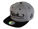더블에이에이 피티드(DOUBLE AA FITTED) Heather Grey Black logo cap