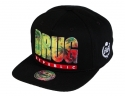 더블에이에이 피티드(DOUBLE AA FITTED) Black Drug Republic printed logo cap