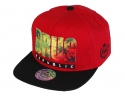 더블에이에이 피티드(DOUBLE AA FITTED) Red Drug Republic printed logo cap