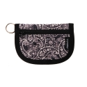 3 plus wallet black paisley