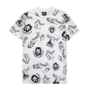파퓰러너드(POPULARNERD) Wild Pattern t-shirt white
