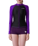 배럴(BARREL) Piha Zip-Up Rashguard BLACK-PURPLE