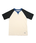 어레인지(ARRANGE) Colorblock Short Sleeve Raglan T (Navy)