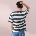 [13PERCENT] Stripe T-Shirt   BLACK&WHITE