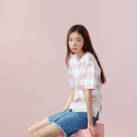 [13PERCENT] Stripe T-Shirt  WHITE&PINK