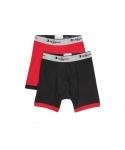 챔피언 Champion Stretch Boxer Brief 2 PACK(BLACK/RED)