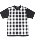 콰이트(QUITE) [콰이트]CHECKWOVEN TEE /White