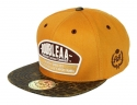 더블에이에이 피티드(DOUBLE AA FITTED) Animal Faux Leather bill DA Logo cap