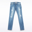 콰이트(QUITE) [콰이트]light blue destroyed denim pants / skinny