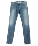 콰이트(QUITE) [콰이트]blench blue denim pants / skinny