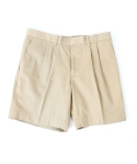 [콰이트]PIN TUCK SHORTS / BEIGE