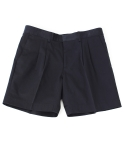 콰이트(QUITE) [콰이트]PIN TUCK SHORTS / NAVY