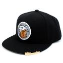 유니버셜 케미스트리 BEER OR DIE SNAPBACK CAP(BLACK/WHITE) 비어스냅백