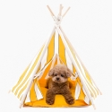허츠앤베이(HUTS&BAY) Tepee Tent Zip Stripe Yellow