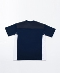 [UEX] OVER FIT HALF T-SHIRT NAVY
