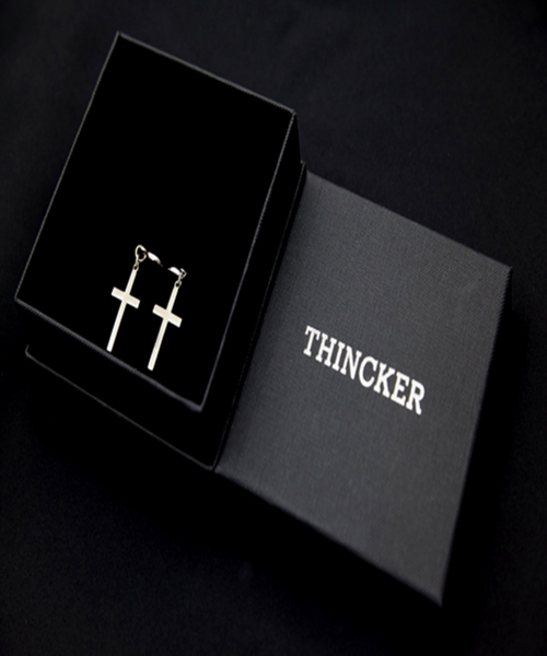 띵커(THINCKER) THINCKER CROSS EARRING (m)