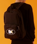 베이직코튼(BASIC COTTON) color logo school bag - BLACK