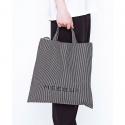 희귀(HEEGUI) Doublestripe denim cotton bag
