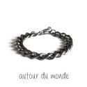 오뜨르 뒤 몽드(AUTOUR DU MONDE) BLACK SHINE MEN BRACELET