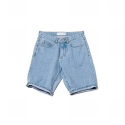 업스케일(UPSCALE) UPSCALE SMILE-BALL DENIM SHORTS-LIGHT BLUE