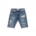 업스케일(UPSCALE) UPSCALE DESTROYED SHORTS-INDIGO
