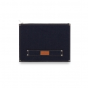 DENIM BRIEF CLUTCH (INDIGO)
