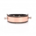 [주문제작 상품]ZIPPER BANDING FITTINGSBRACELET(BK-RG)