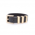 데멘드 데 뮤테숑(DEMANDE DE MUTATION) TRIPLE SQUARE BRACELET(BK-GD)