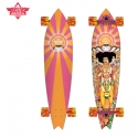 다크스타(DARKSTAR) [DUSTERS] 38 HENDRIX AXIS BOLD X ORANGE/PINK X COLLABO LONGBOARD COMPLETE