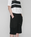 모한(MOHAN) [MOHAN] BLACK JERSEY LOUNGE SHORTS