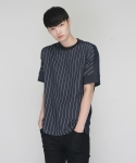 모한(MOHAN) [MOHAN] BLUE STRIPED T-SHIRT